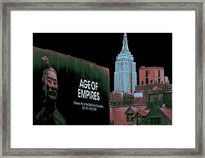 Age Of Empires - New York Framed Print