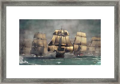 Age Of Sail Framed Print by Daniel Eskridge