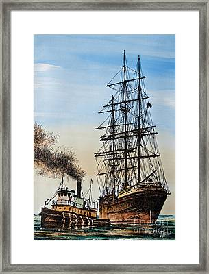 Age Of Steam And Sail Framed Print by James Williamson