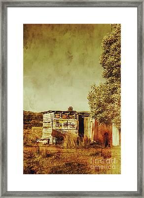 Aged Australia Countryside Scene Framed Print