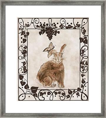 Aged Bunny Framed Print