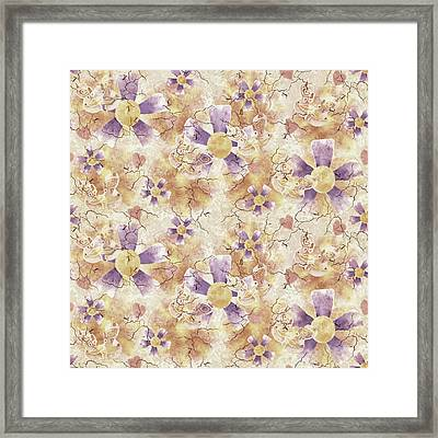 Aged Flower Clown Pattern Framed Print