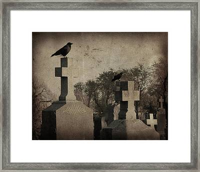 Aged Graveyard Scene Framed Print by Gothicrow Images