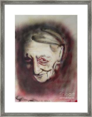 Aged Smile Framed Print by Ron Bissett