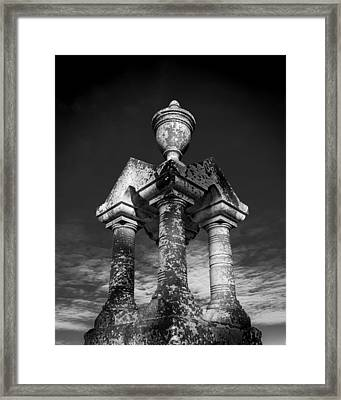 Aged Stone And Sky Framed Print
