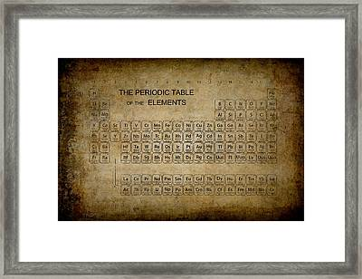 Aged To Perfection Periodic Table Framed Print