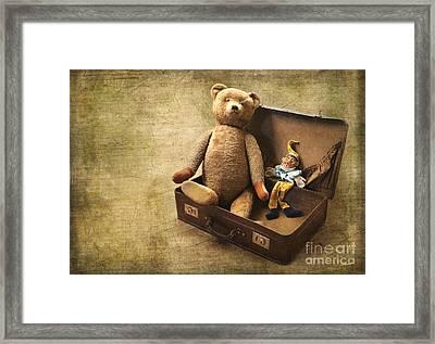 Aged Toys Framed Print by Jutta Maria Pusl