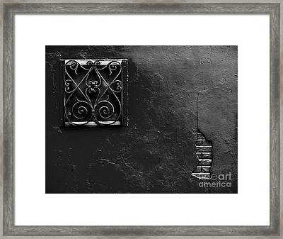 Aged Window And Wall Framed Print