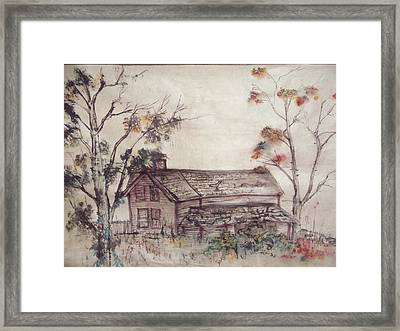 Framed Print featuring the painting Aged Wood by Debbi Saccomanno Chan