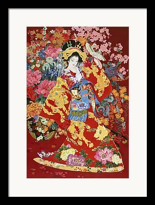 Dancing Petals Framed Prints