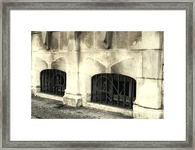 Agen Architecture Details Framed Print by Georgia Fowler