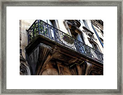 Agen Balcony In France Framed Print