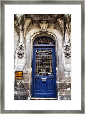 Agen Blue Door Framed Print