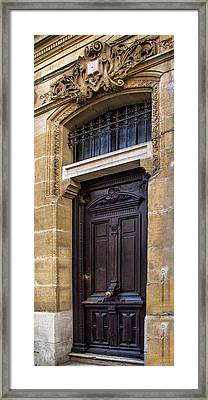 Agen Brown Door Framed Print