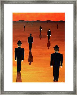 Agents Orange Framed Print