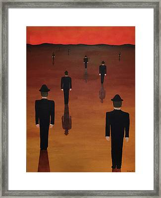 Framed Print featuring the painting Agents Orange by Thomas Blood