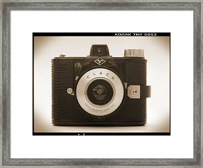 Agfa Clack Camera Framed Print