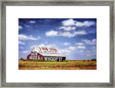 Aggie Barn Iv Framed Print by Joan Carroll