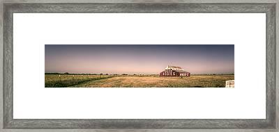 Aggie Barn Panorama Framed Print by Joan Carroll