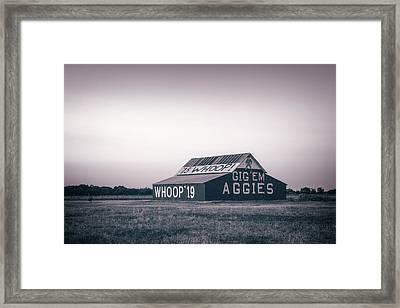 Aggie Barn Sunrise 2015 Platinum Framed Print