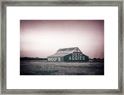 Aggie Barn Sunrise 2015 Platinum Textured Framed Print