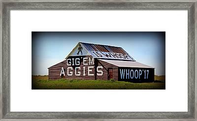 Aggie Barn - Whoop  Framed Print