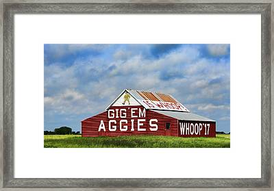 Aggie Nation Barn Framed Print