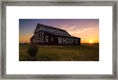 Aggie Sunset Framed Print
