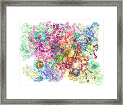 Agglomeration With Pinning Framed Print by Regina Valluzzi