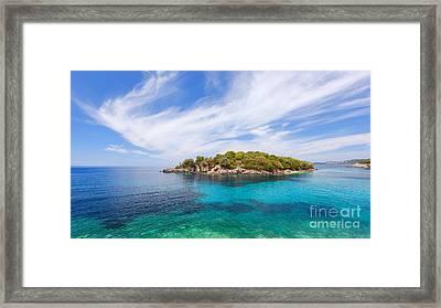 Agia Paraskevi Beach, Sivota Greece Framed Print by Slavica Stajic