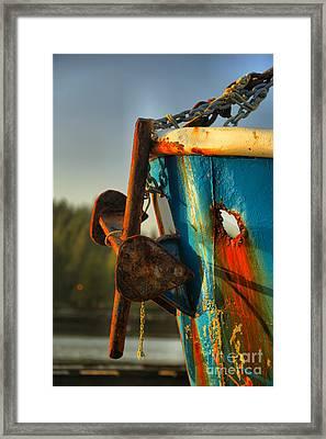 Aging Anchor Framed Print