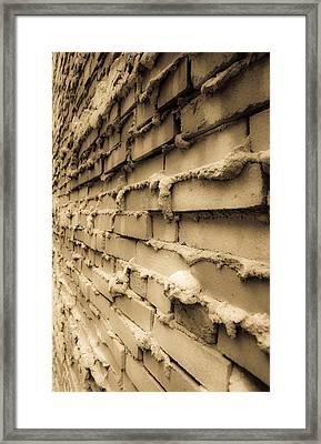 Aging Brick Wall Framed Print by Patrick  Flynn
