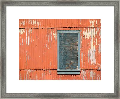 Aging Contrasts Framed Print