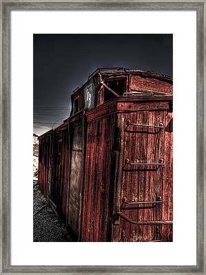Aging Red Caboose Framed Print by Patrick  Flynn