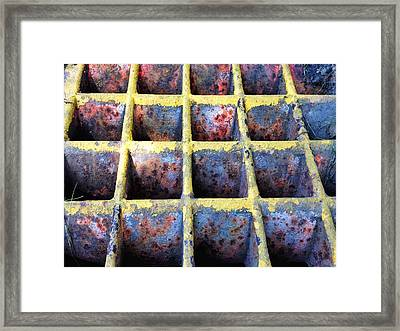Framed Print featuring the photograph Aging Steel by Olivier Calas