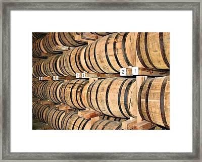 Aging The Whisky Framed Print