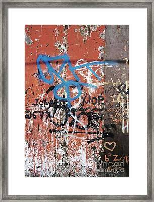 Aging Walls Framed Print by Reb Frost