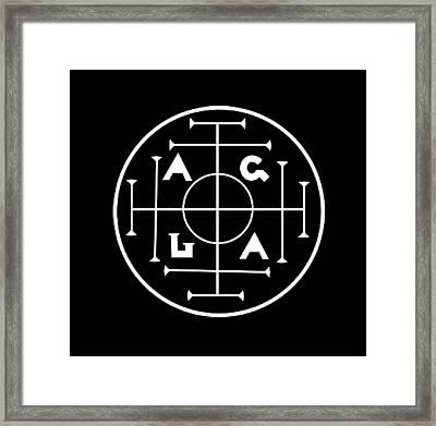 Agla Lucky Charm Framed Print
