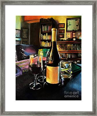 Aglianico Wine On Christmas Eve Framed Print by Alessandra Andrisani