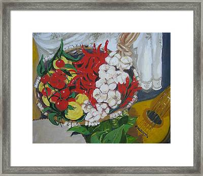 Framed Print featuring the painting Aglio  by Julie Todd-Cundiff