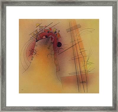 Aglow Framed Print by Wassily Kandinsky