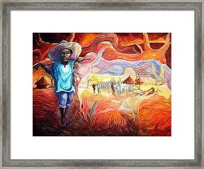 Agoi - The Sheperd Boy Framed Print by Bankole Abe