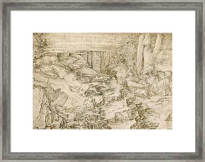 Agony In The Garden Framed Print