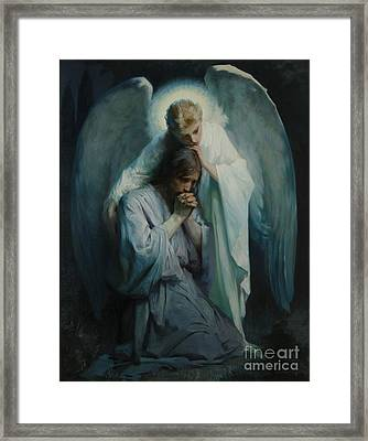Agony In The Garden  Framed Print by Frans Schwartz