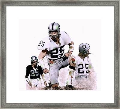 Framed Print featuring the painting Agony Of Greatness, Vii  Fred Biletnikoff  by Iconic Images Art Gallery David Pucciarelli