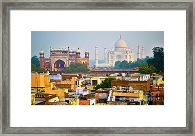 Agra Rooftop Framed Print by Derek Selander