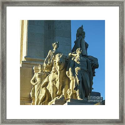 Framed Print featuring the photograph Agriculture Allegorie Monument To The Constitution Of 1812 Cadiz Spain by Pablo Avanzini