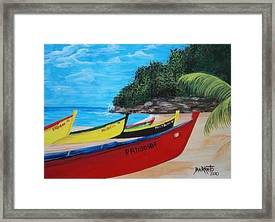 Aguadilla Crashboat Beach Framed Print