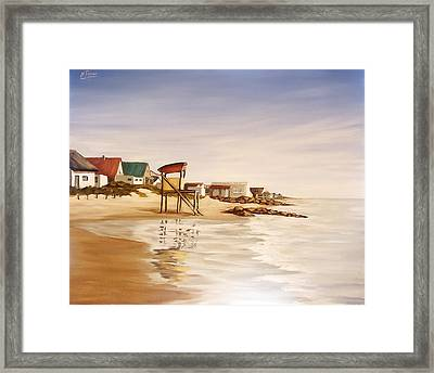Framed Print featuring the painting Aguas Dulces  by Natalia Tejera