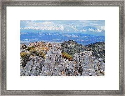 Aguereberry Point Rocks Framed Print